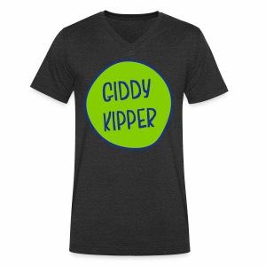 Giddy Kipper Men's V-Neck T-Shirt - Men's Organic V-Neck T-Shirt by Stanley & Stella