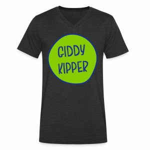 Giddy Kipper Men's V-Neck T-Shirt - Men's Organic V-Neck T-Shirt by Stanley & Stella
