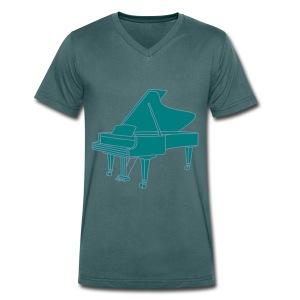 Klavier Konzertflügel 2 - Männer Bio-T-Shirt mit V-Ausschnitt von Stanley & Stella