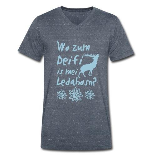 Wo zum Deifi is mei Ledahosn? - Männer Bio-T-Shirt mit V-Ausschnitt von Stanley & Stella