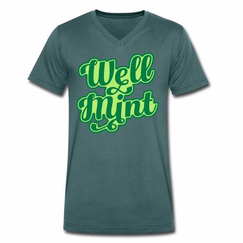 Well Mint Men's V-Neck T-Shirt - Men's Organic V-Neck T-Shirt by Stanley & Stella