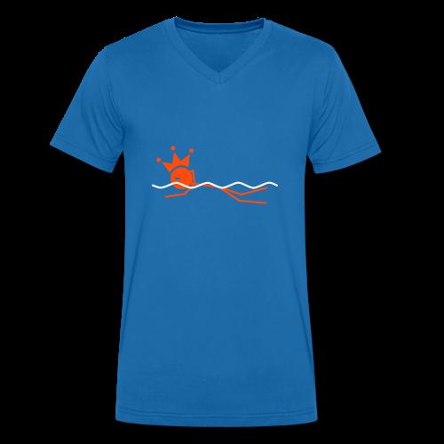 Zwemkoning V-hals shirt - Mannen bio T-shirt met V-hals van Stanley & Stella