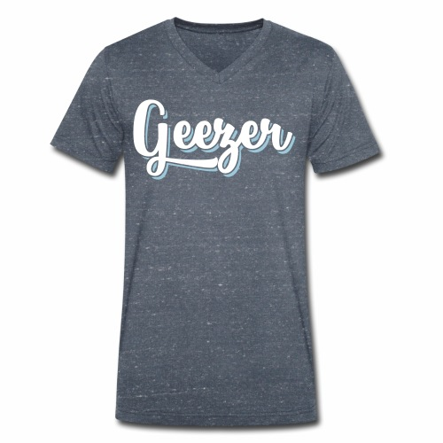 Geezer London Slang Men's V-Neck T-Shirt - Men's Organic V-Neck T-Shirt by Stanley & Stella