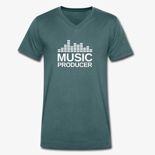 Music Producer V-Shirt - Männer Bio-T-Shirt mit V-Ausschnitt von Stanley & Stella