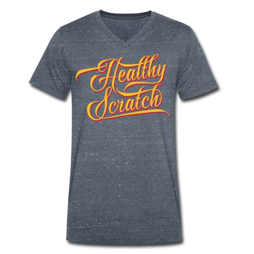 Healthy Scratch Men's V-Neck T-Shirt - Men's Organic V-Neck T-Shirt by Stanley & Stella