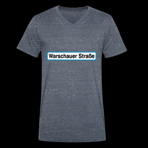 Warschauer Straße Berlin - Männer Bio-T-Shirt mit V-Ausschnitt von Stanley & Stella
