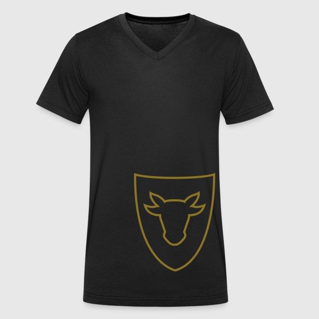 Männer T-Shirt mit V-Ausschnitt – Ochsenwappen