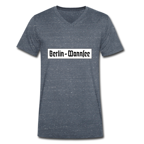 Berlin Wannsee Fraktur - Männer Bio-T-Shirt mit V-Ausschnitt von Stanley & Stella