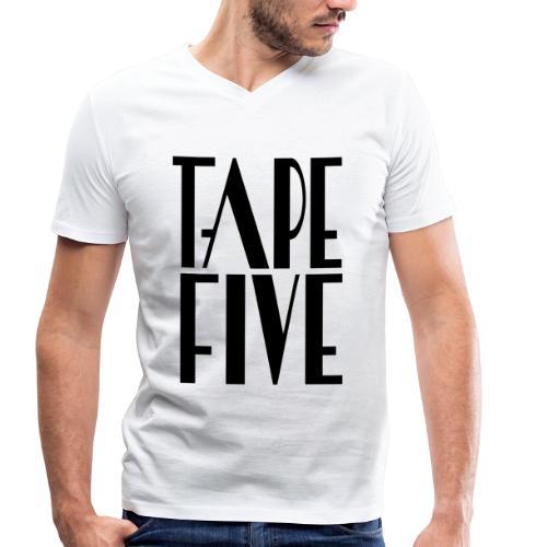 TAPE FIVE logo grande II, male - Men's Organic V-Neck T-Shirt by Stanley & Stella