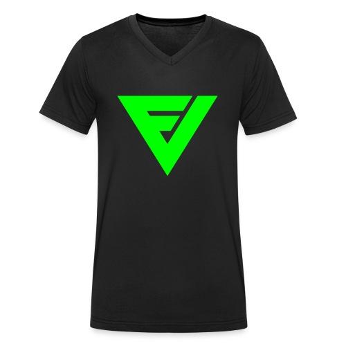 Premium v-paita symbolilla (neon vihreä), painatus niskassa myös. - Stanley & Stellan naisten luomupikeepaita