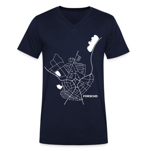 Ortsplan V-Shirt Dunkel - Männer Bio-T-Shirt mit V-Ausschnitt von Stanley & Stella