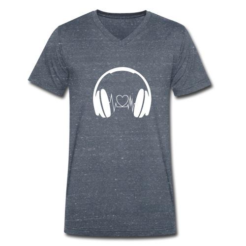 Liebe zur Musik - Männer Bio-T-Shirt mit V-Ausschnitt von Stanley & Stella