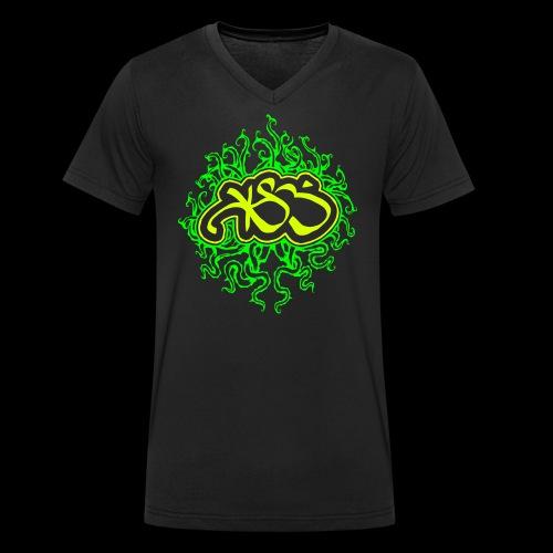 KLEVER & BESCHEIDEN SINGLE UV PRINT SPECIAL - Männer Bio-T-Shirt mit V-Ausschnitt von Stanley & Stella