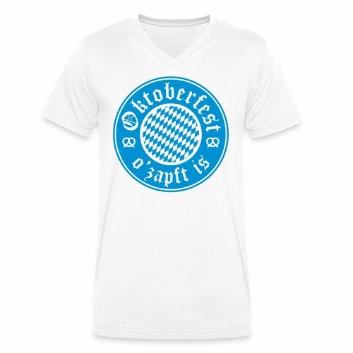 Oktoberfest O'Zapft Is Men's V-Neck T-Shirt - Men's Organic V-Neck T-Shirt by Stanley & Stella