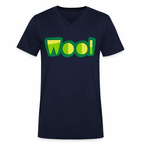 Wool (Liverpool Slang) Men's V-Neck T-Shirt - Men's Organic V-Neck T-Shirt by Stanley & Stella