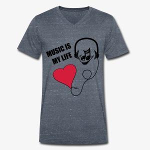 Music - Männer Shirt - Männer Bio-T-Shirt mit V-Ausschnitt von Stanley & Stella