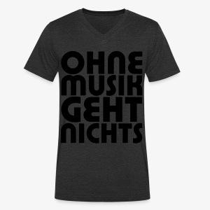 Ohne Musik - Männer Shirt - Männer Bio-T-Shirt mit V-Ausschnitt von Stanley & Stella