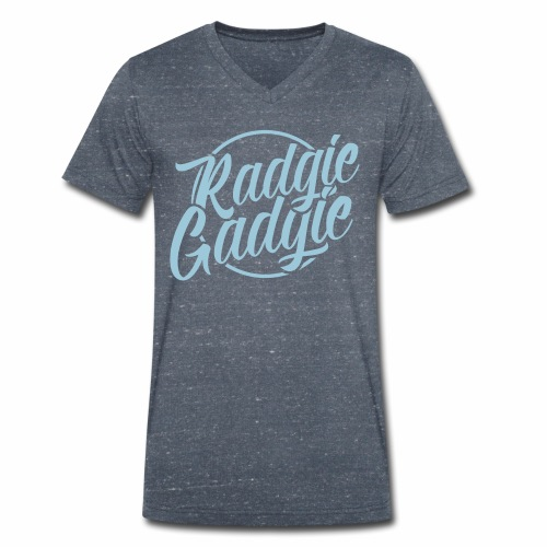 Radgie Gadgie Men's Organic V-Neck  T-Shirt - Men's Organic V-Neck T-Shirt by Stanley & Stella