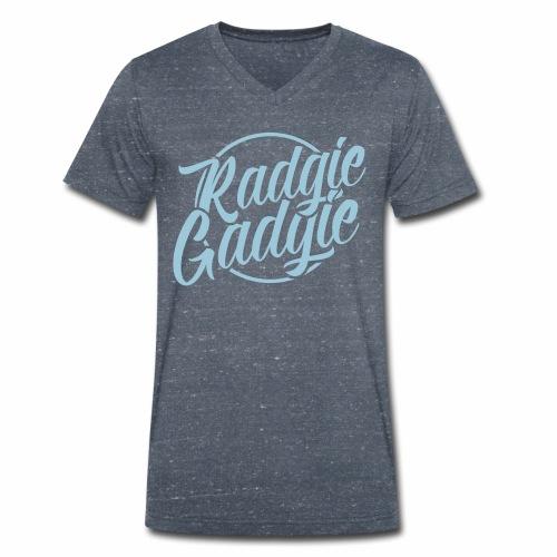 Radgie Gadgie Men's Organic V-Neck  T-Shirt - Men's Organic V-Neck T-Shirt by Stanley & Stella
