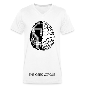 The Geek Circle Official TShirt - Men's Organic V-Neck T-Shirt by Stanley & Stella