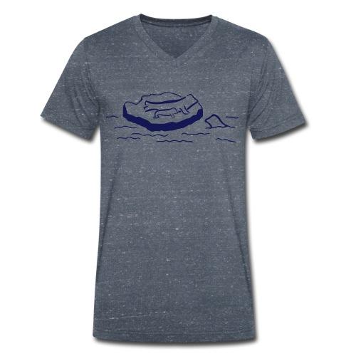 Robbenfamilien Shirt - Männer Bio-T-Shirt mit V-Ausschnitt von Stanley & Stella