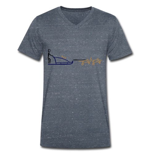 Hundeschlitten Shirt - Männer Bio-T-Shirt mit V-Ausschnitt von Stanley & Stella