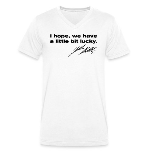 "T-Shirt V-Ausschnitt ""little bit lucky"" - Männer Bio-T-Shirt mit V-Ausschnitt von Stanley & Stella"