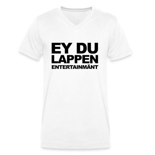"""""""EY DU LAPPEN ENT."""" V-Kragen Shirt Männer - Männer Bio-T-Shirt mit V-Ausschnitt von Stanley & Stella"""