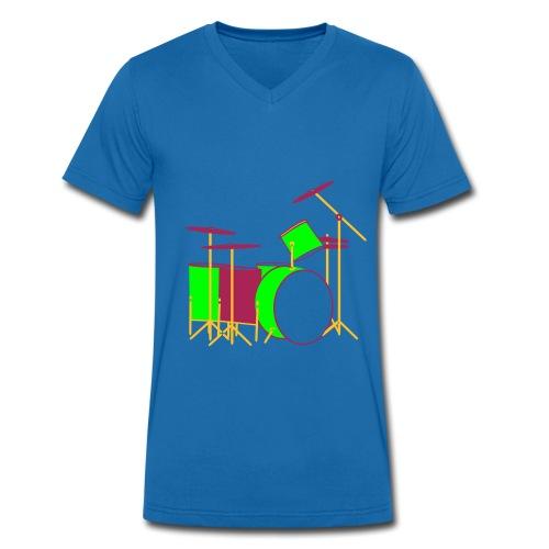 Colour Drums II - Männer Bio-T-Shirt mit V-Ausschnitt von Stanley & Stella