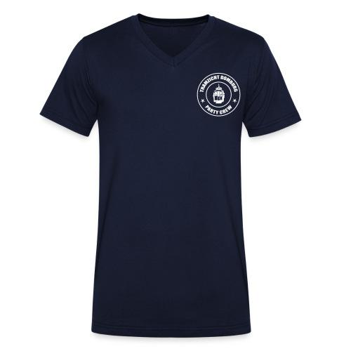 Tramzicht Domburg Party Crew - Mannen bio T-shirt met V-hals van Stanley & Stella