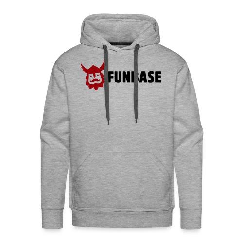 Funbase Hoodie - Color logo on grey - Men - Men's Premium Hoodie