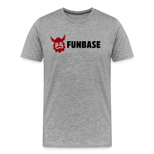 Funbase T-Shirt - Color logo on grey - Men - Men's Premium T-Shirt