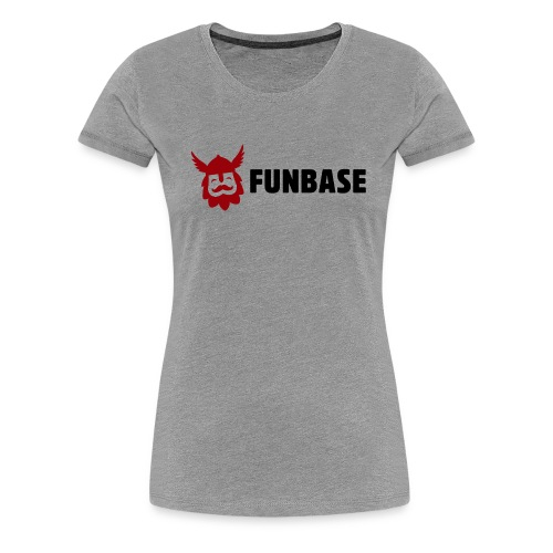 Funbase T-Shirt - Color logo on grey - Female - Women's Premium T-Shirt