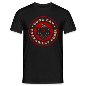 Cool Cat red - Camiseta hombre