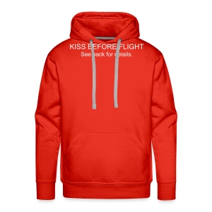 KISS BEFORE FLIGHT...Clooney Edition - Männer Premium Hoodie