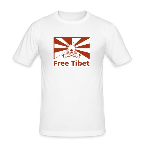 Flagge Free Tibet red - Männer Slim Fit T-Shirt