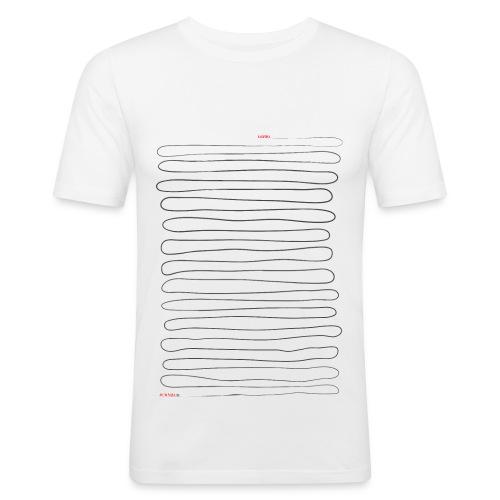 Ilvespoika Viiva/Aki on paska SLIM - Miesten tyköistuva t-paita