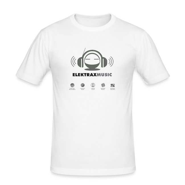 Elektrax Music - Light Grey logo on White