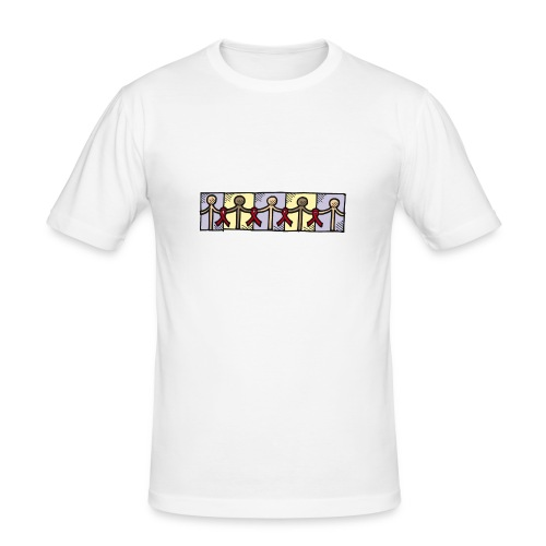 """Red Ribbon"" - Männer Slim Fit T-Shirt"