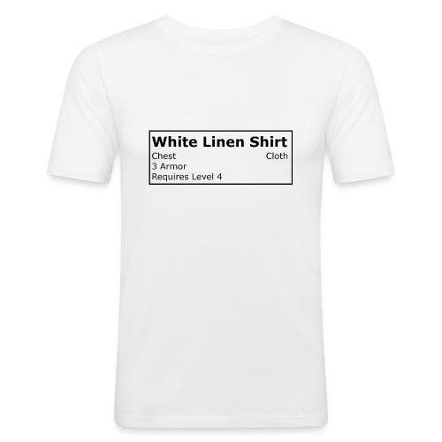 Linen Shirt - Männer Slim Fit T-Shirt