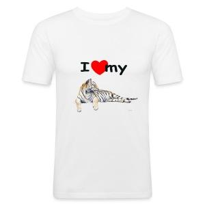 I Love my Tiger Slim Fit - Men's Slim Fit T-Shirt