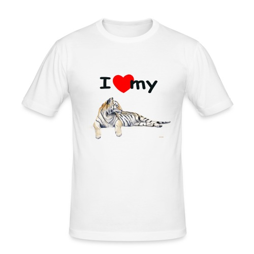 I Love my Tiger Slim Fit - Men's Slim Fit T-Shirt