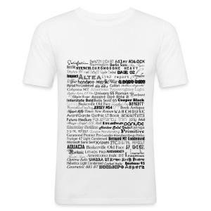 fonts - Männer Slim Fit T-Shirt