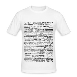 fonts - Männer Slim Fit T-Shirt