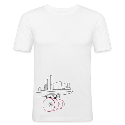 Skateboard Slim fit white - slim fit T-shirt