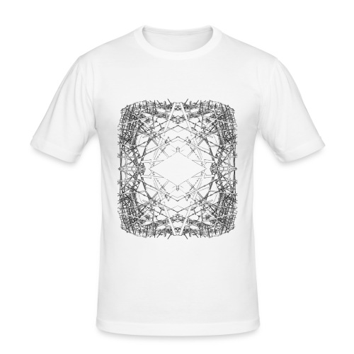 scaffolding mandala - Men's Slim Fit T-Shirt