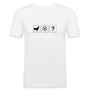 Logo T-Shirt White - Men's Slim Fit T-Shirt