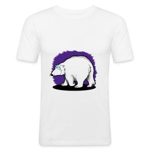 """Tier-Shirt """"Eisbär"""" - Männer Slim Fit T-Shirt"""