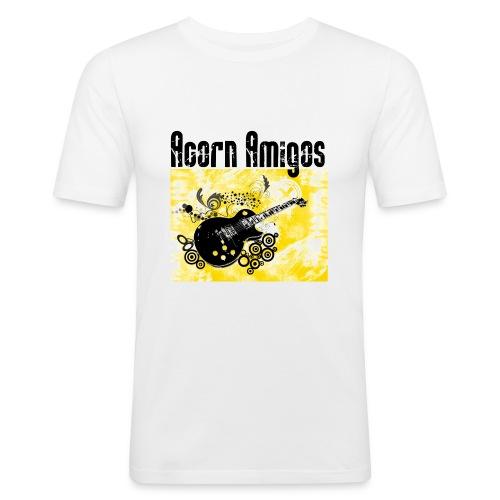 Acorn Amigos T-shirt vit - Slim Fit T-shirt herr