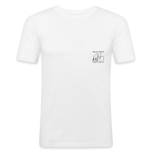T-shirt homme près du corps, logo noir - T-shirt près du corps Homme